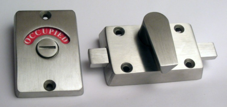 occupied door lock, bathroom indicator stainless steel,ada stainless lever lock