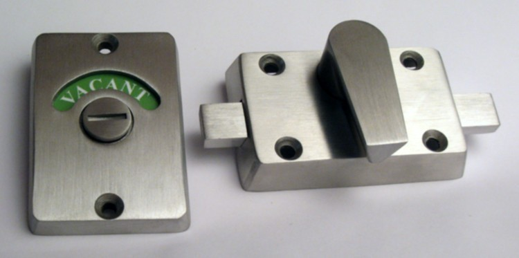 stainless steel occupancy indicator, restroom indicator lock