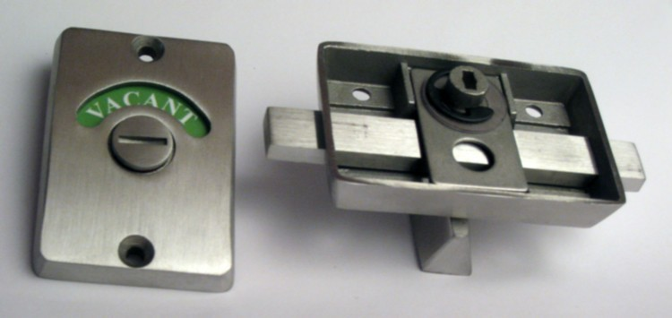 occupied vacant bathroom lock, stainless steel ada privacy lock, stainless indicator lock