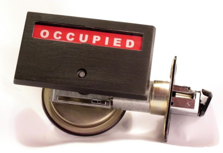 pocket door bathroom indicator lock, privacy indicator lock occupied