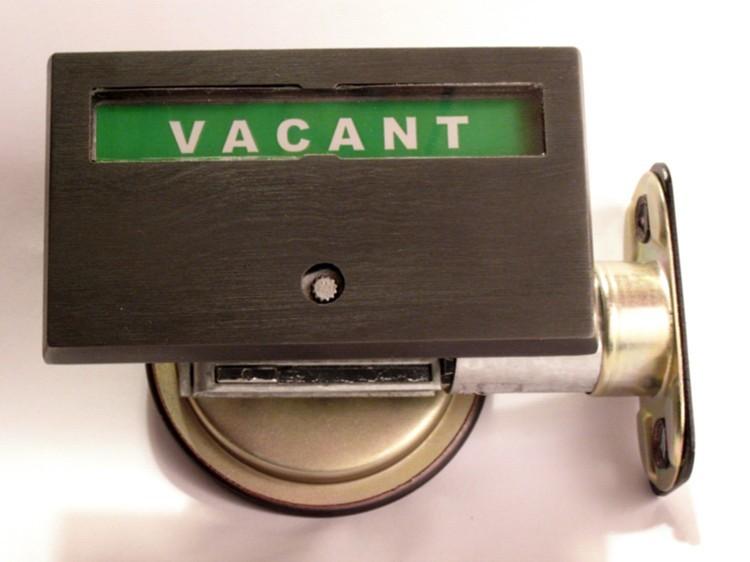vacant occupied lock, pocket door indicator lock bronze
