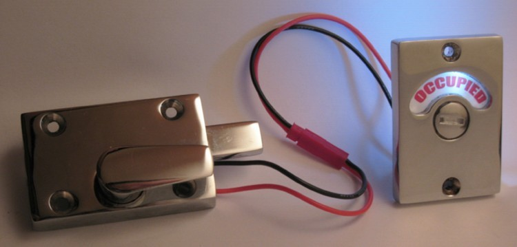 led bathroom occupied lock, led indicator lock, led privacy indicator