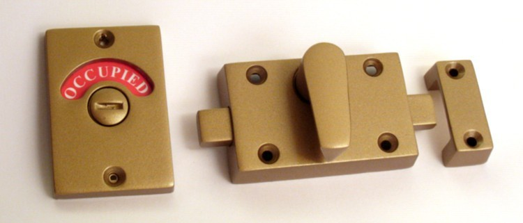 bronze bathroom indicator lock, occupied lock bronze