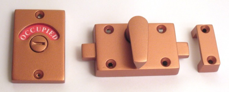 copper bathroom hardware