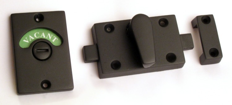 occupied door lock flat black, matte black indictaor lock