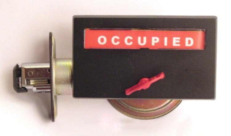 flat black privacy indicator, flat black occupied lock