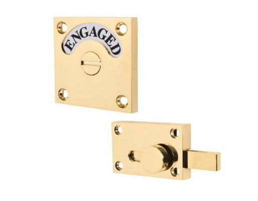 london washroom indicator, engaged square brass, bathroom privacy lock
