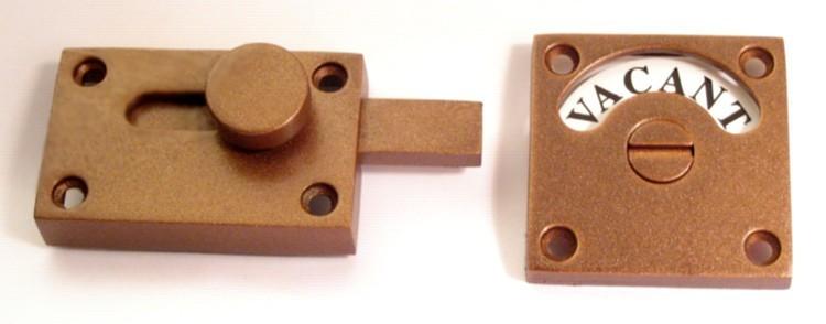 vintage copper privacy indicator, vintage copper london style washroom indicator
