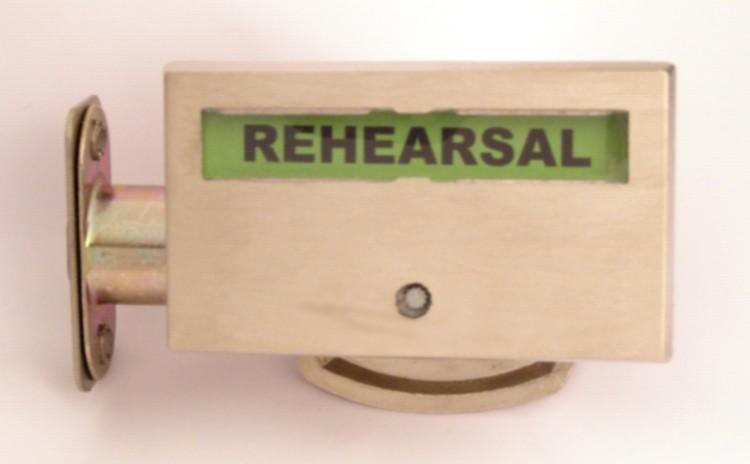 musician privacy lock, rehearsal recording sign