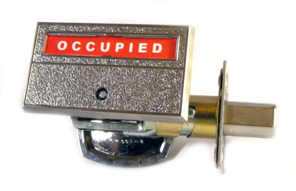 occupied vacant, indicator lock bathroom