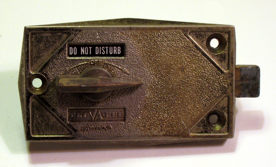 A-100 Privacy Lock, Pri-VA-Cee, Indiactor Lock, Hotel Indicator Lock