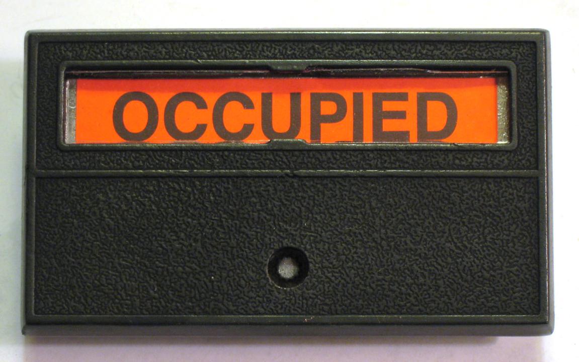 Privacy Indicator Lock no bolt, Privacy Lock Restroom indicator only, indicator occupied no deadbolt