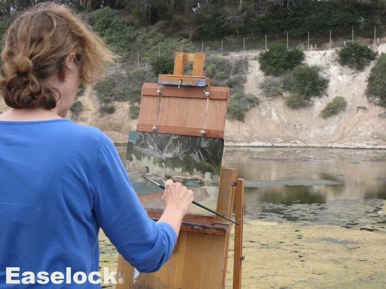 plein air panel, small canvas adapter, easel adapter, Easelock, artist tools