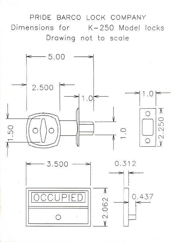 """""""K-250 CAD"""",""""K-250 dimensions"""",""""bathroom indicator Lock"""",""""ASYK-250-V CAD"""""""