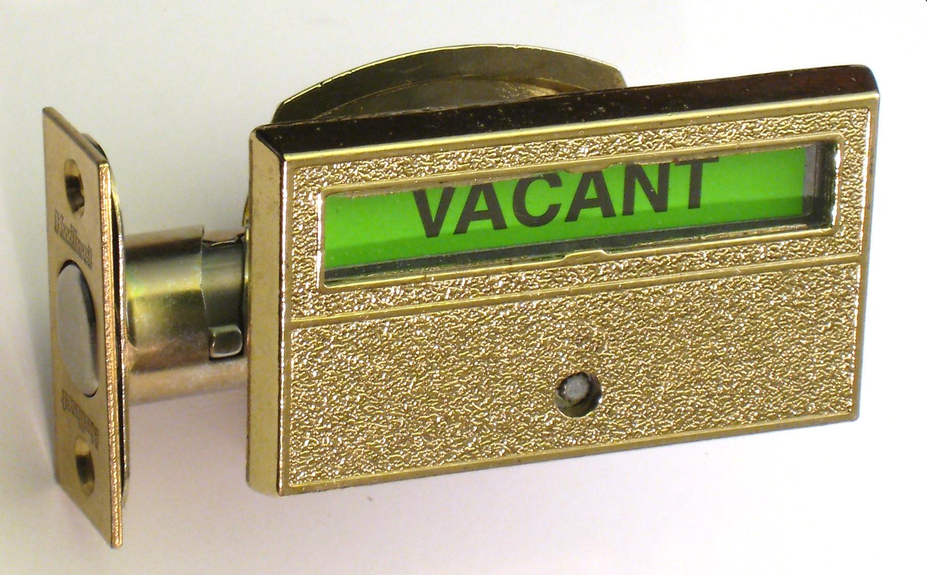Indicator Lock, Restroom Privacy Lock, Occupied Deadbolt