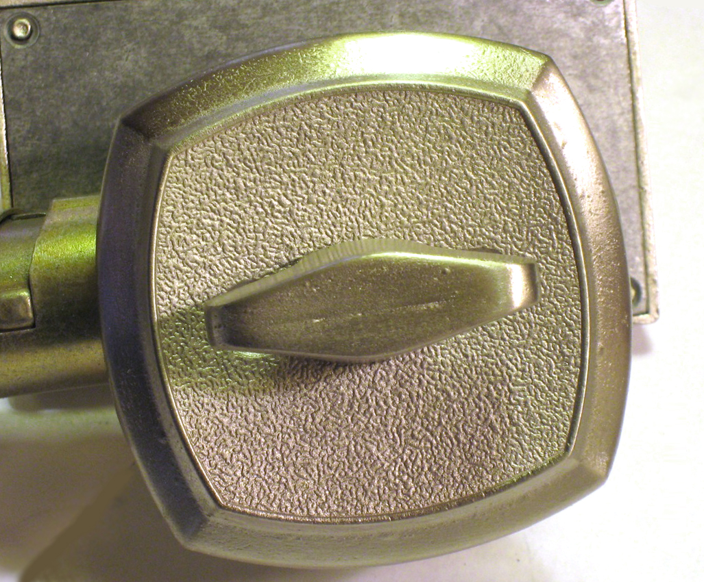 Brushed Nickel Bathroom Lock, Indicator Lock