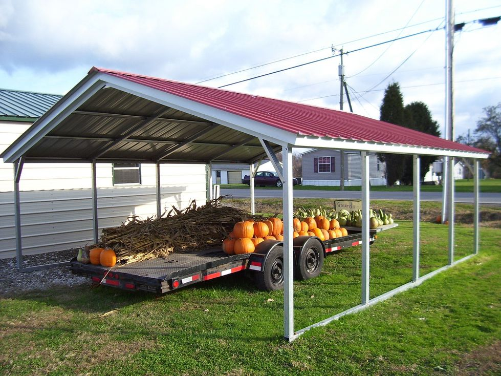 Vertical Roof Style Carport