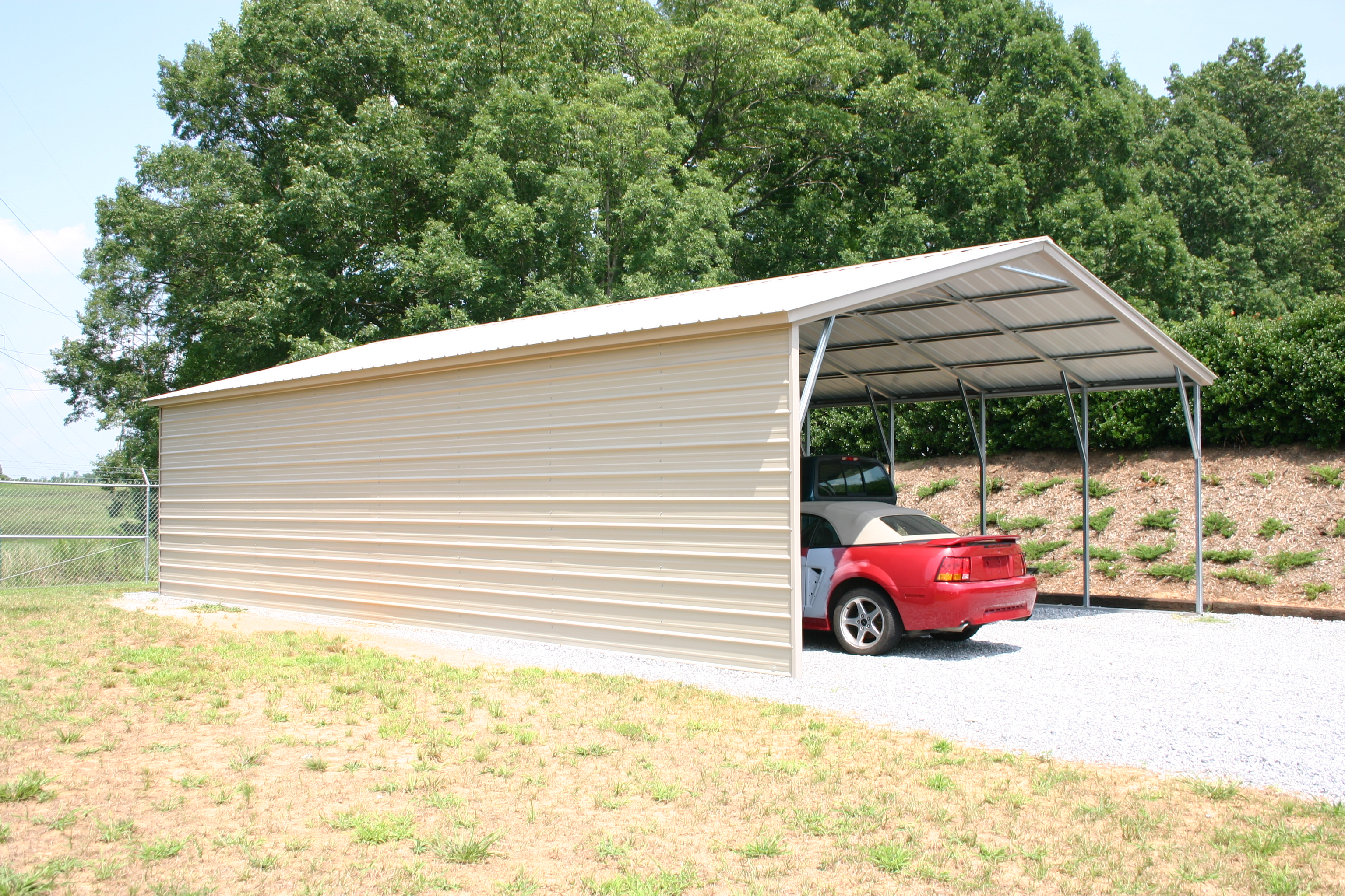 Vertical Roof Carport