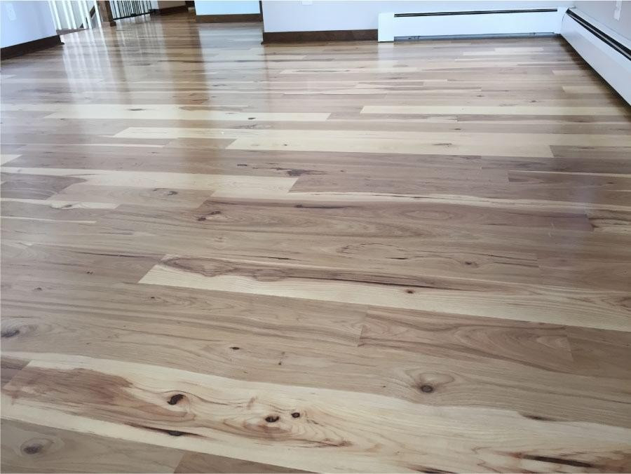 Water based hardwood floor