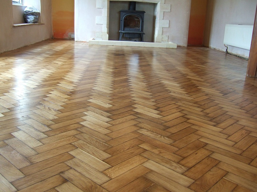 Water based parquet floor