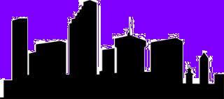 city scape dusk