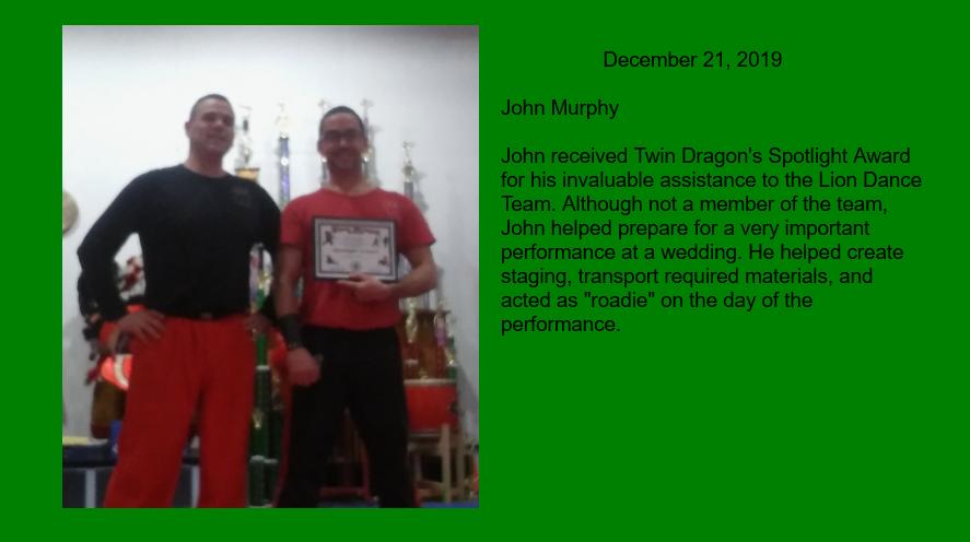John M Spotlight Award