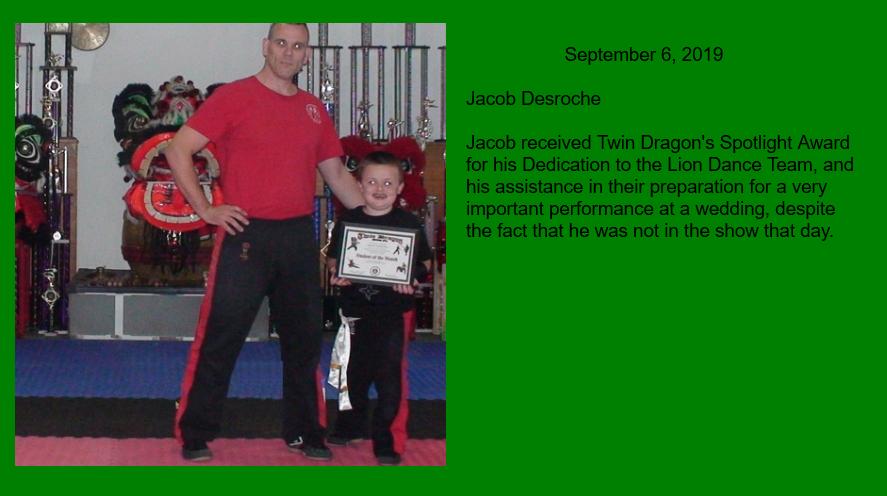 Jacob D Spotlight Award