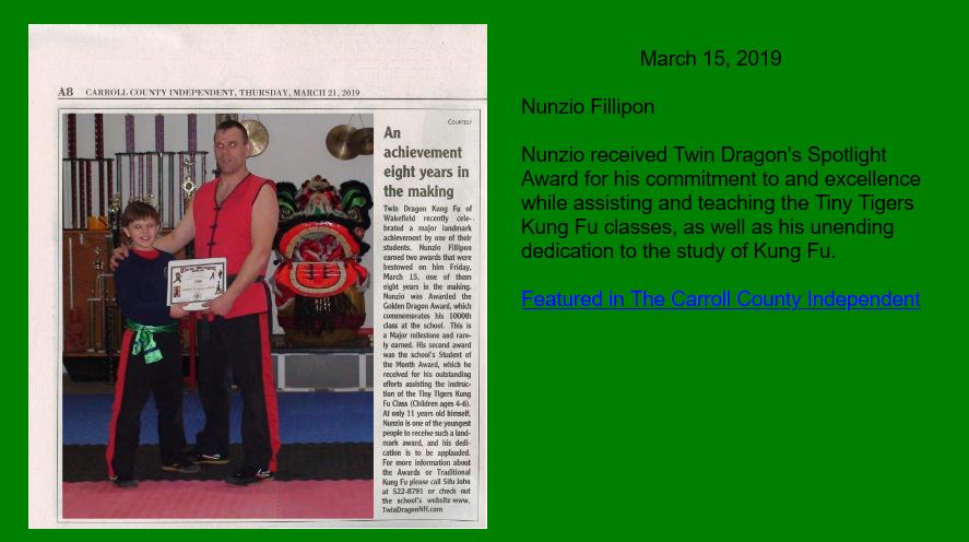Nunzio Spotlight Award