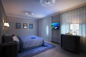 Цветы и камень Дизайн трехкомнатной квартира Хабаровск