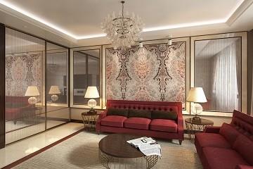 Дизайн гостиной в стиле Ар Деко