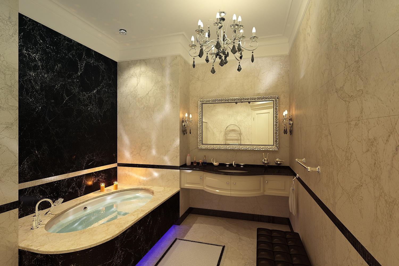 Дизайн ванной в классическом стиле Хабаровск