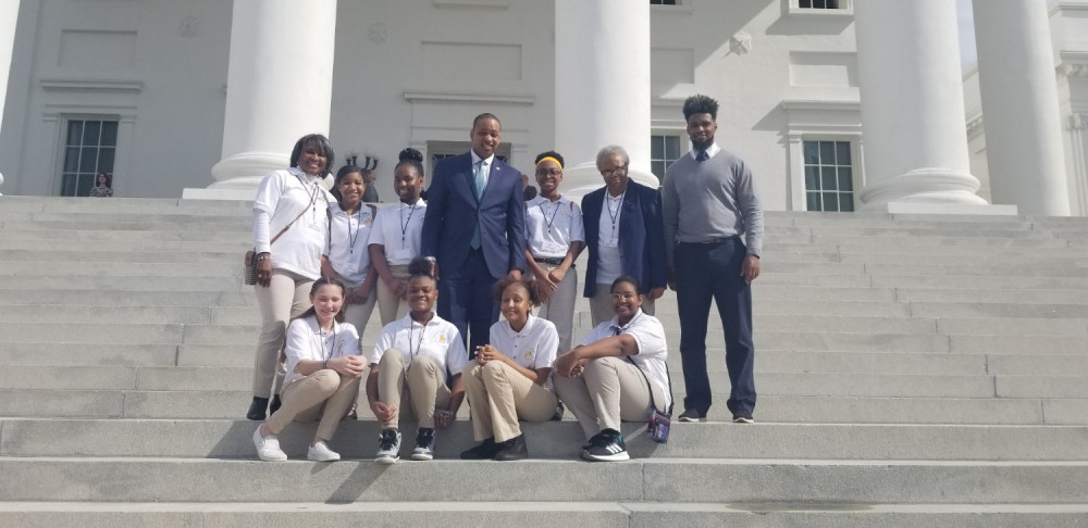Youth Ambassadors with Virginia Lieutenant Governor