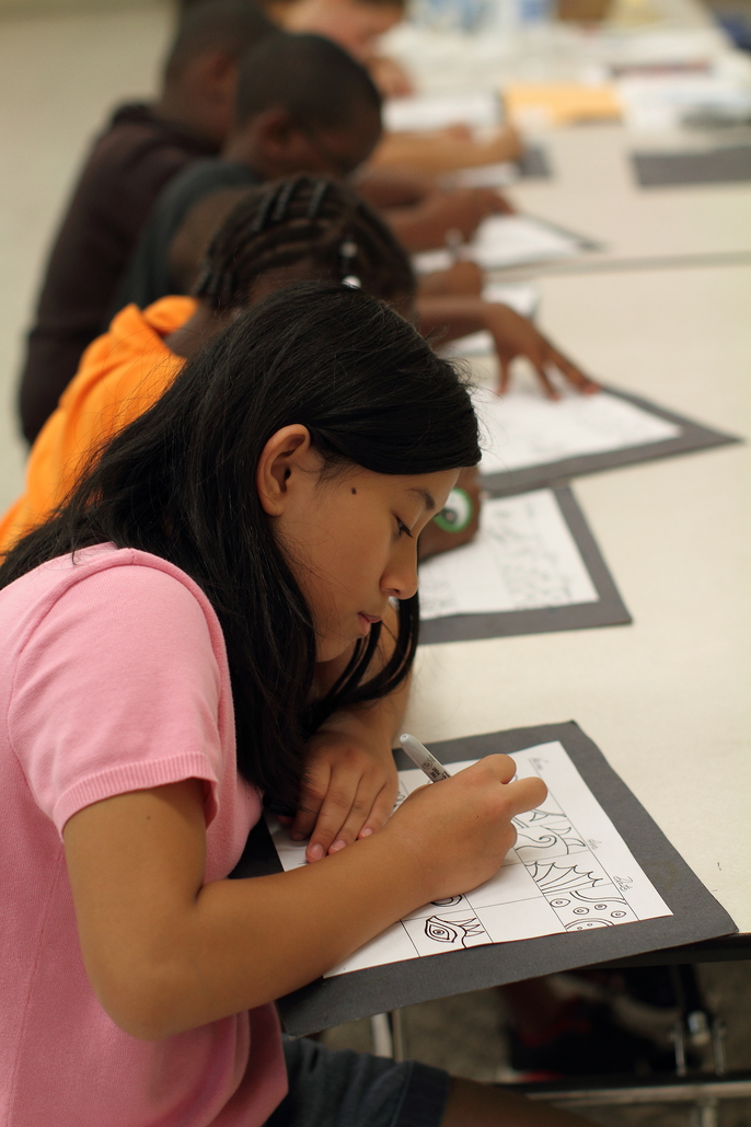 Middle School Students Drawing Monart