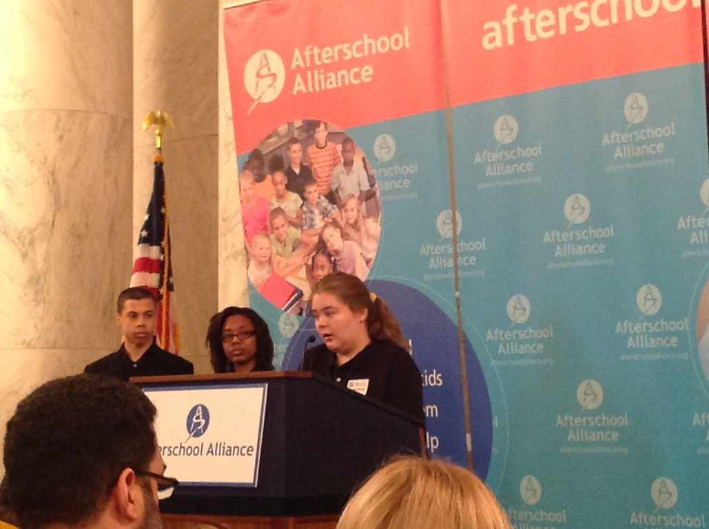 Students representing Afterschool Alliance