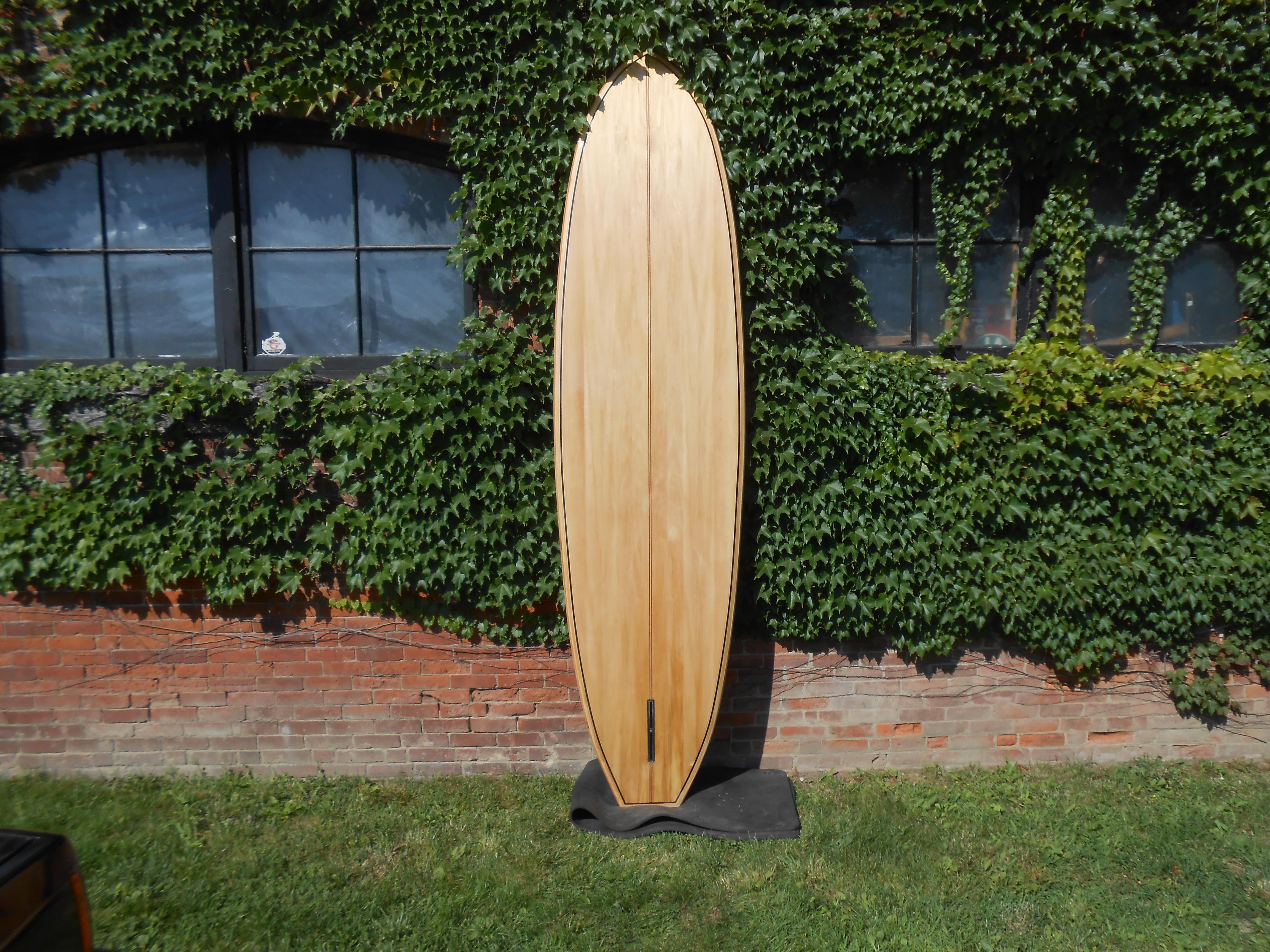 10' wood stand up paddle board Sapele, Bass, Walnut bottom