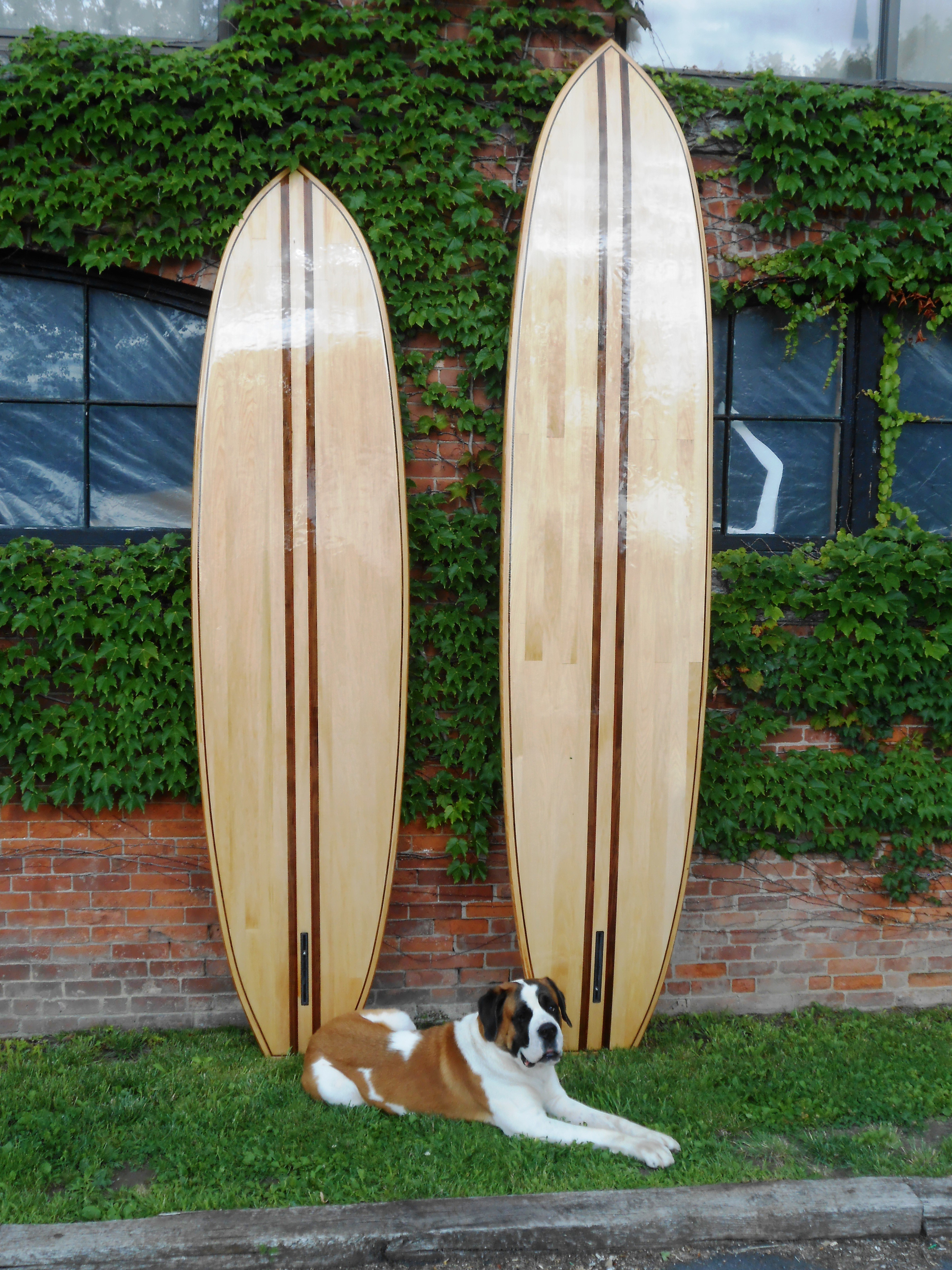 10' - 12' wood paddle boards and chomsky