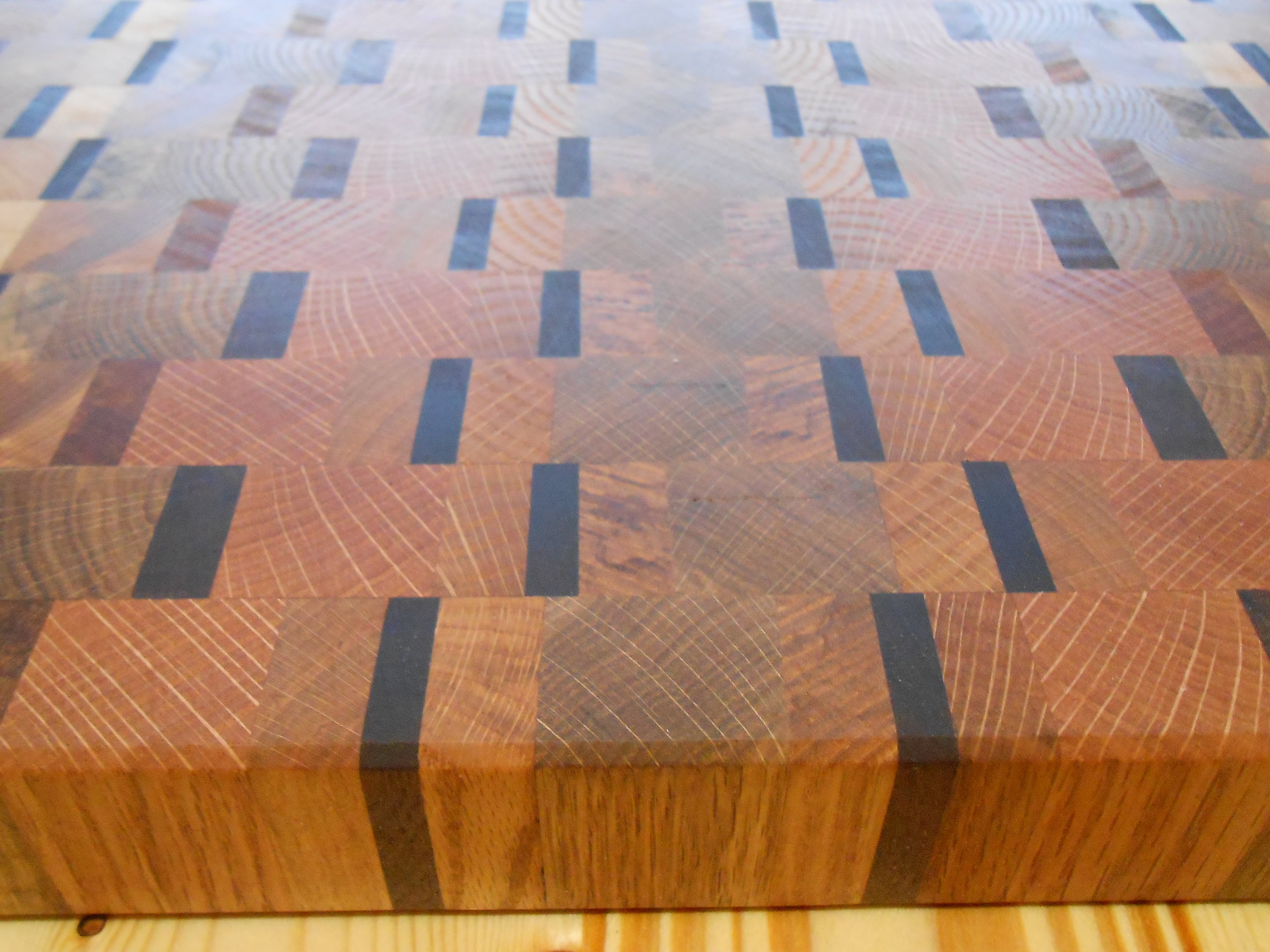 End Grain Reclaimed Hardwood Cutting Board