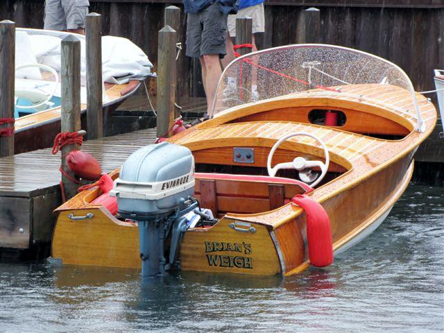 This is a 1955 Wagemaker Wolverine Boat named Brian's Weigh.