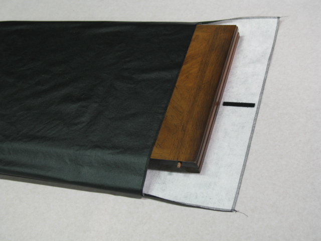 Black Vinyl Table Pad Bag