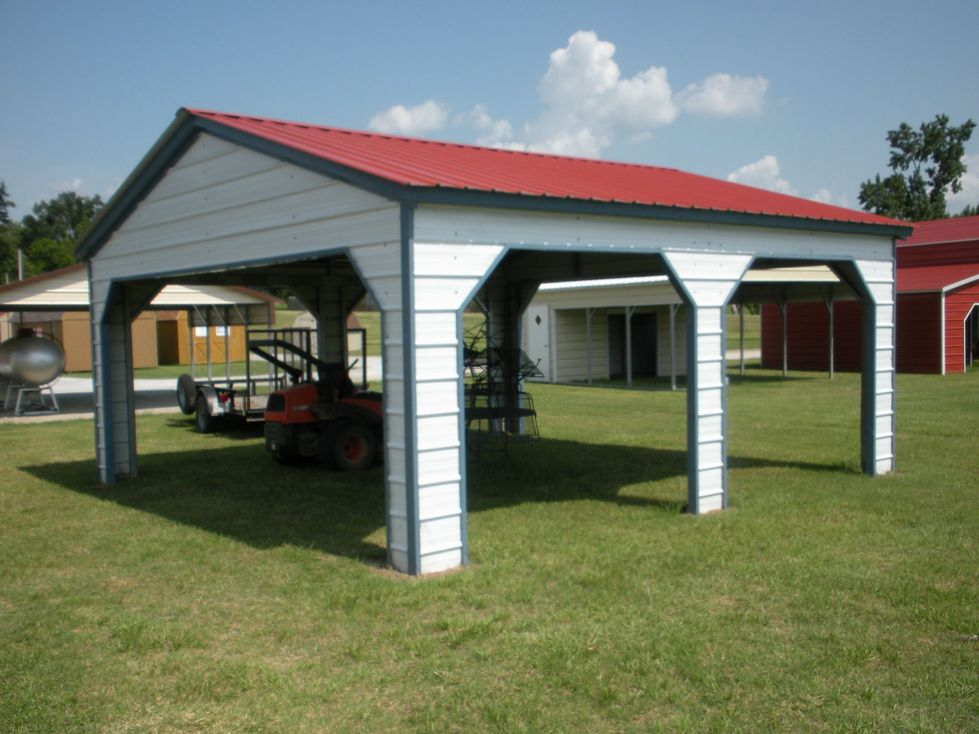 Vertical Roof Side Entry Carport Georgia GA