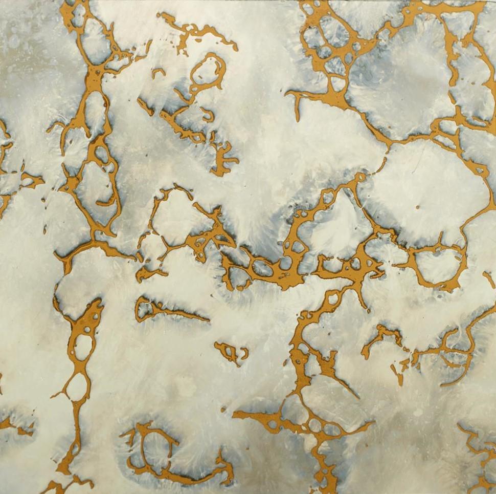 Darl Cloud Gold Vein - Antique Mirror