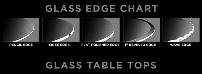 Glass Table Top Edge Chart - Manor Mirror 954-776-5522