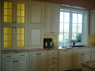 New cabinets with added lighting