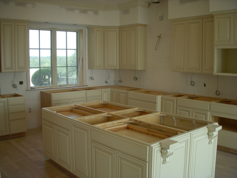Remodeling process, before adding countertops