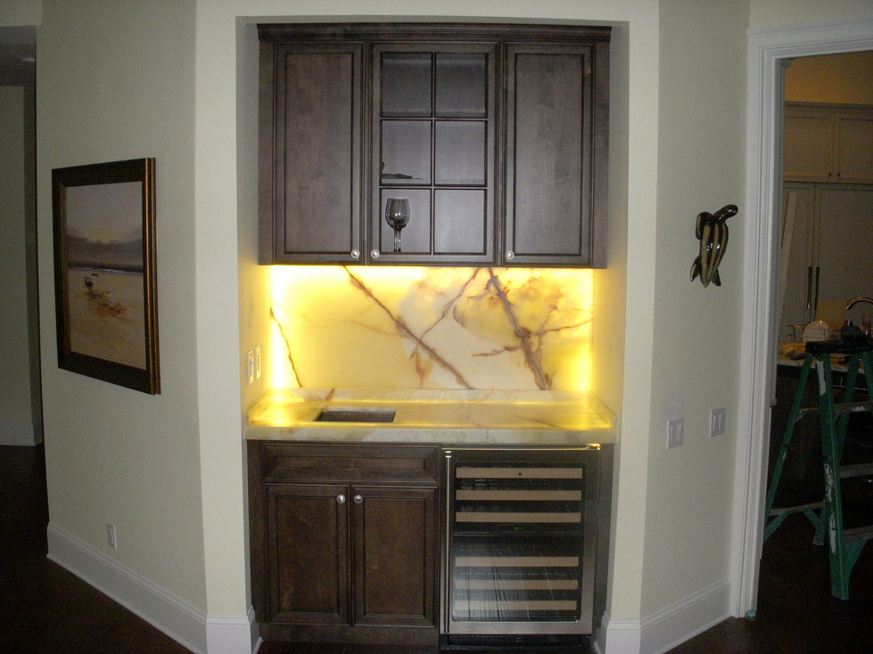 Underlighting for renovated cabinets