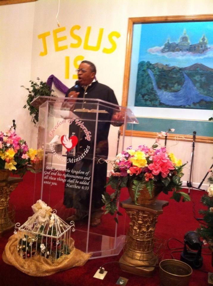 Bishop Joe Preaching in Robe