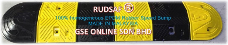100% homogeneous EPDM Rubber Speed Bump Malaysia