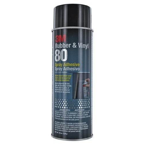 3M™ Rubber And Vinyl 80 Spray Adhesive is a high-performance, neoprene-based contact aerosol adhesive