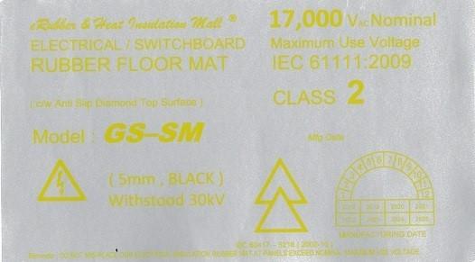 GS-SM 30kv Label Malaysia