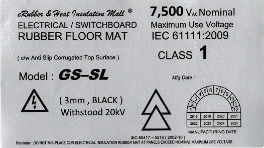 medium voltage electrical rubber label Malaysia